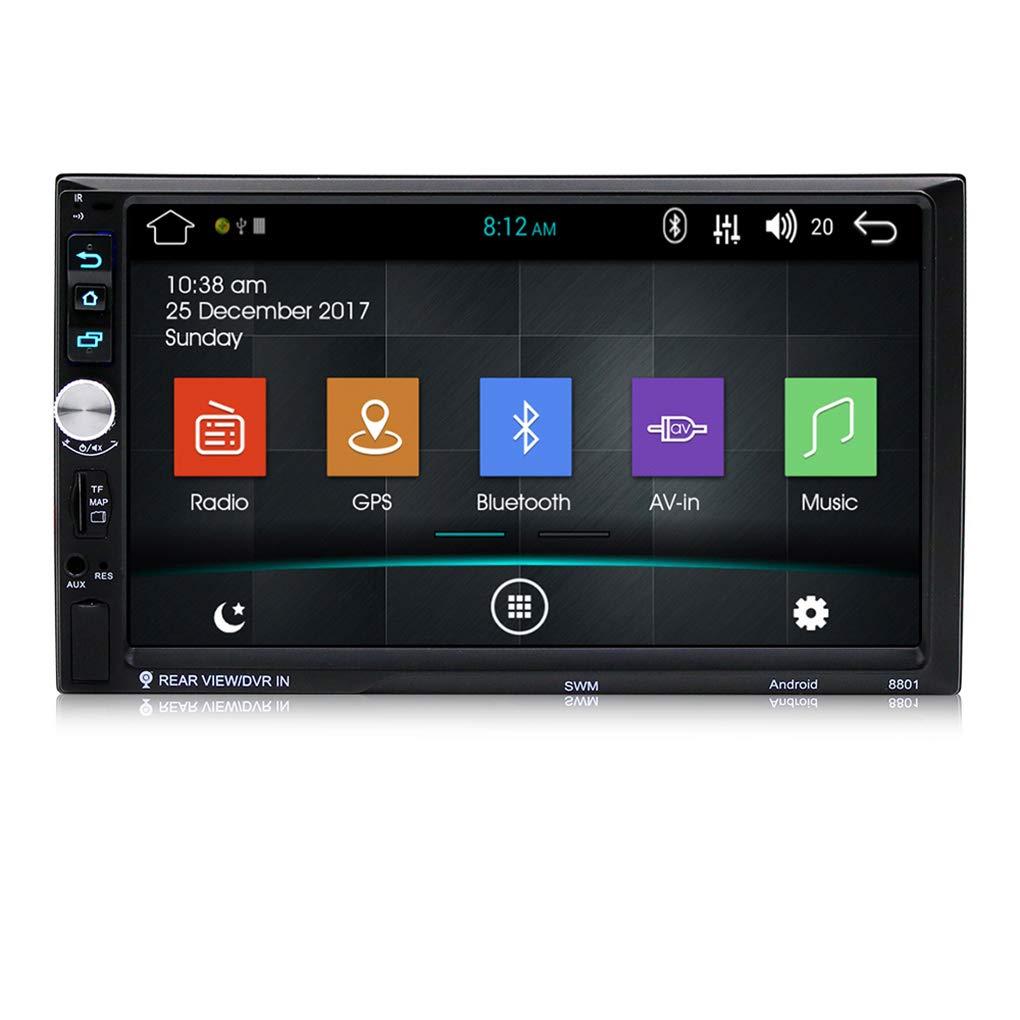 Elenxs 4G Pantalla t/áctil de Doble 2DIN GPS Radio FM Reproductor MP5 Car Stereo para Android 7.1