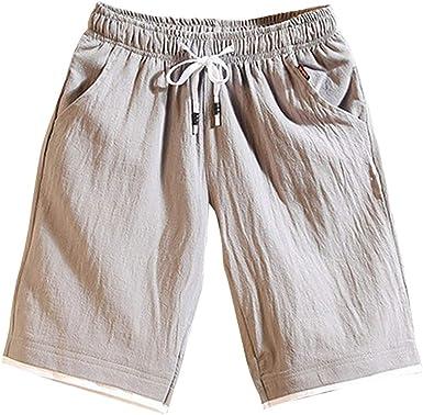 VPASS Pantalones Hombre,Verano Casual Moda Pantalones Tallas Grandes Deportivos Color s/ólido Suelto Jogging Pantalon Fitness Gym Cortos Pantalones Pantalones de Playa Ba/ñador Ch/ándal de Hombres