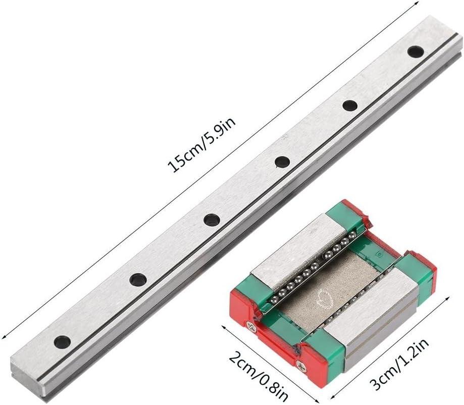Slide Block wosume Drawer Slide 150mm 1pc LML12B Miniature Linear Rail Guide 12mm Width