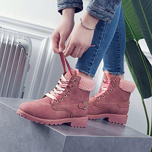 Cheville Dentelle Neige Hiver En Bottines Rose Bottes,avec Automne De Femme Bensports Paires Et 2 Chaussures Bottes wxUIq60R8