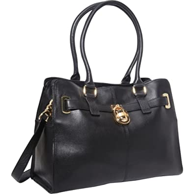 563060d4b8 Calvin Klein Modena Leather Tote (Black): Amazon.co.uk: Shoes & Bags
