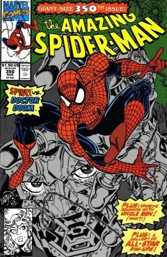 The Amazing Spider-Man #350 : Doom Service (Marvel Comics) (Wolverine Vs Spiderman Vs Hulk Vs Batman)