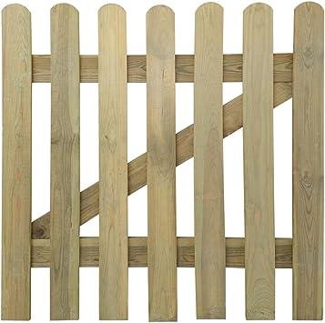 vidaXL Holz Imprägniert Gartentor 100x80cm Gartentür Zauntür Lattenzaun Tor