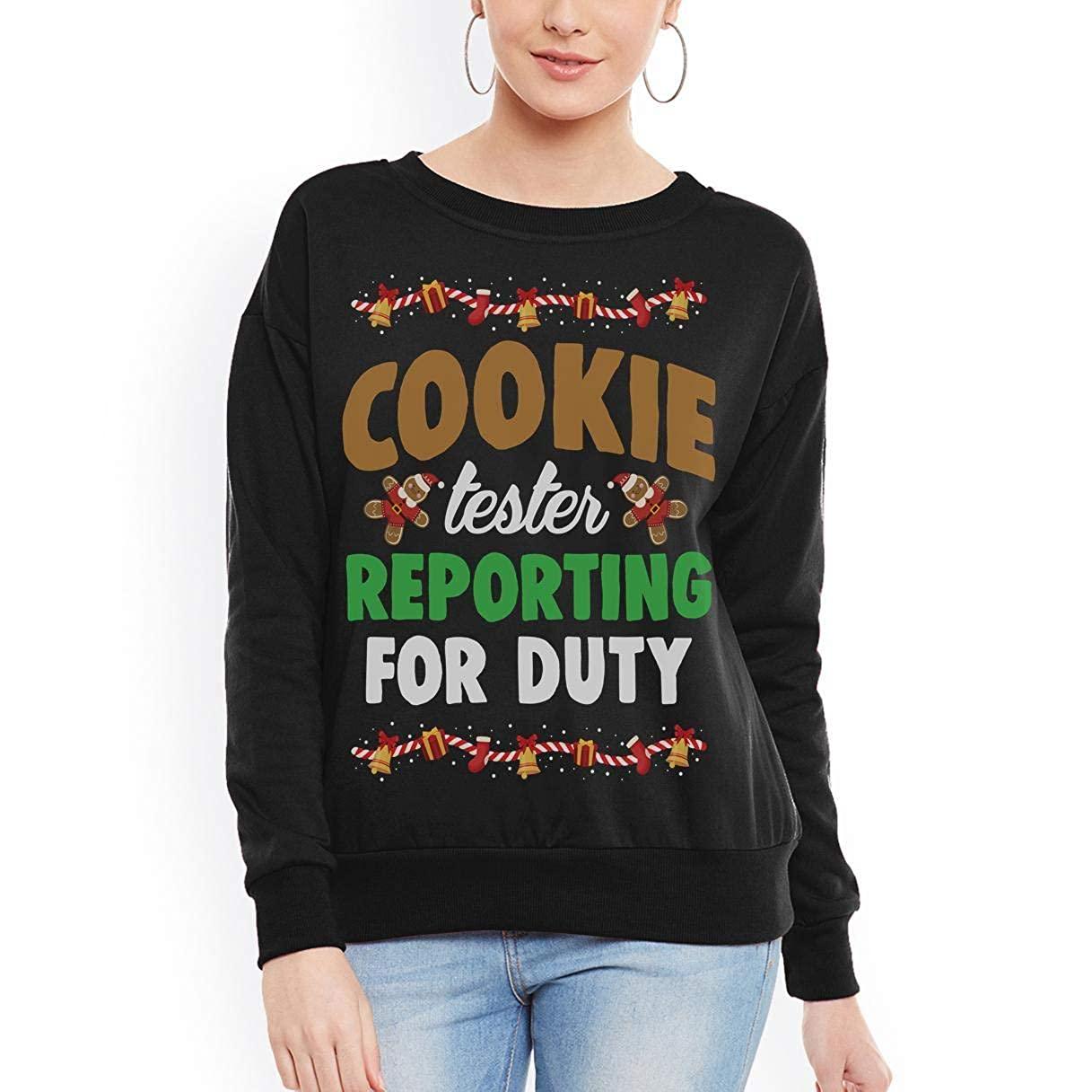 tee Cookie Tester Reporting for Duty Christmas Unisex Sweatshirt