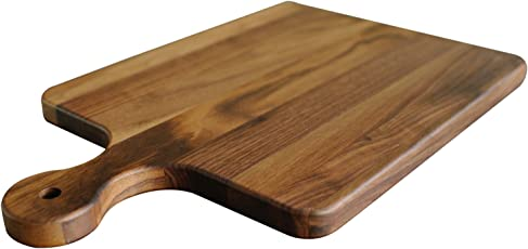 Virginia Boys Kitchens Black Walnut Wood Cutting Boards with Drip Groove