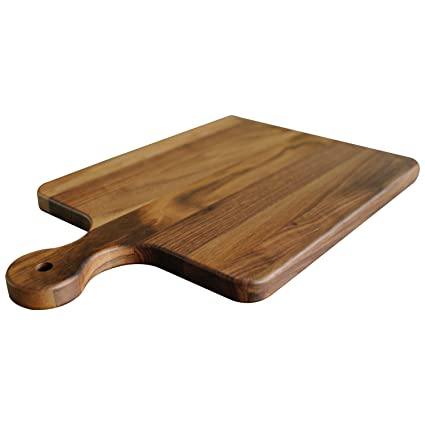 Walnut Wood Cutting Board With Handle By Virginia Boys Kitchens 10x16 American Hardwood Chopping And Serving Rustic Paddle For Bread Cheese