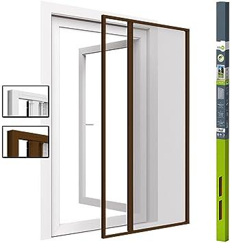 Zanzariera con porta scorrevole, telaio in alluminio, 160 x ...