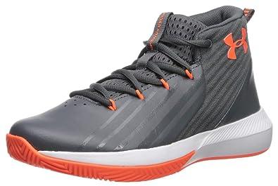outlet store 505e9 5fa24 Under Armour Jungen Grade School Lockdown 3 Basketballschuhe Grau (Pitch  Gray White Orange