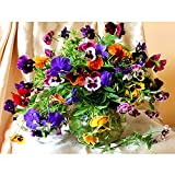 ZSH 5D Diamond Mosaic Diamond Embroiderye Colorful Flowers And Vases Mbroidered Cross Stitch Home Decoration Gift