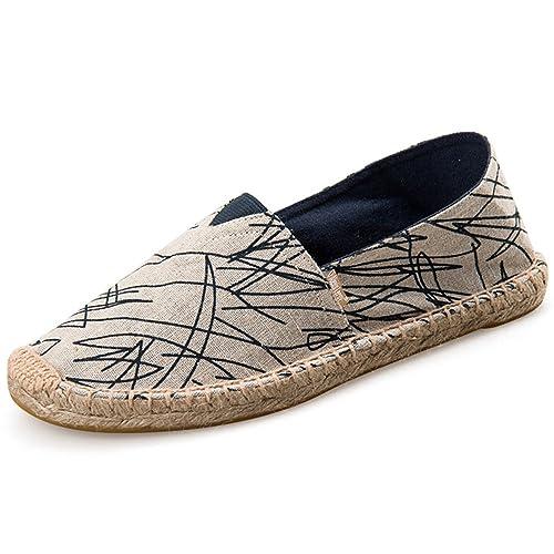 Alexis Leroy Graffiti, Alpargatas de Lona para Hombre Alpargatas Plataforma: Amazon.es: Zapatos y complementos