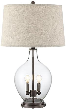Becker Clear Glass Night Light Table Lamp Amazon Com