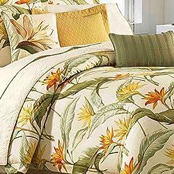 Tommy Bahama 205545 Birds of Paradise Comforter Set, Coconut, Queen