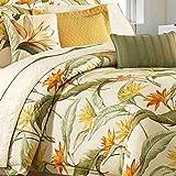 Tommy Bahama 205546 Birds of Paradise Comforter Set, Coconut, King