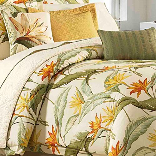 Tommy Bahama 205545 Birds of Paradise Comforter Set, Coconut, Queen