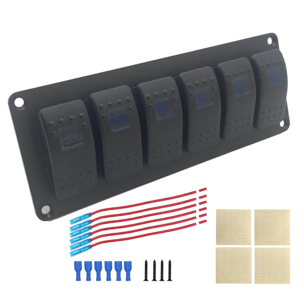 OLSUS DIY Car Refitting 6-Group Switch Panel