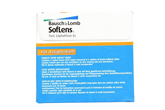 Buy Bausch   Lomb Alphafilcon A Soflens Astigmatism Contact Lens (6 Pieces)  Online at Low Prices in India - Amazon.in 7a394306ac40