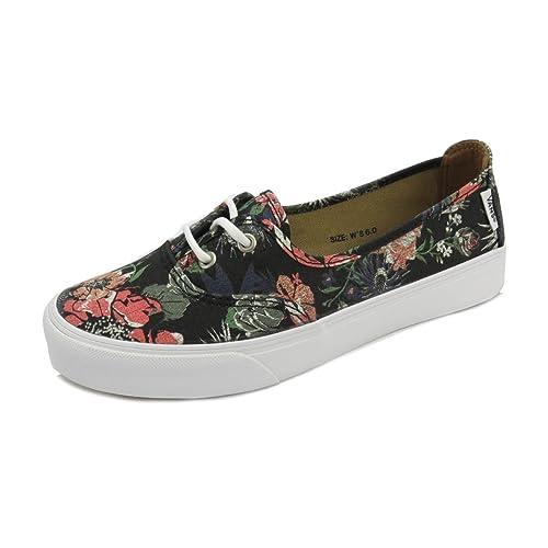 6d77c87cfb Vans Solana SF (Desert Floral) Black- Women s Surf Slider Deck Size 5   Amazon.ca  Shoes   Handbags