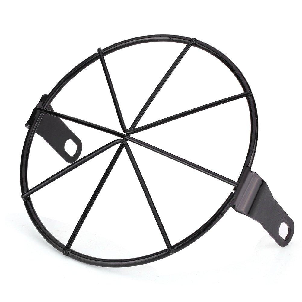 Qiilu 16cm Maschera di Protezione del Supporto Laterale della Griglia della Lampada della Testa del Motociclo
