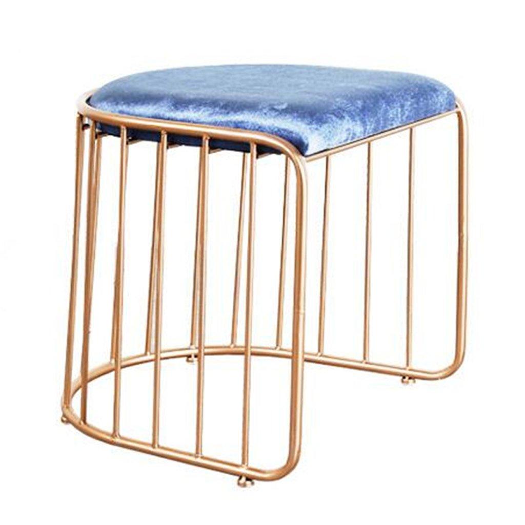 45cm without backrest Bar Stool, Cotton & Metal Bar Chair, Leisure High Chair, Kitchen Breakfast Chair,45cm, 75cm,gold ( Size   45cm without backrest )