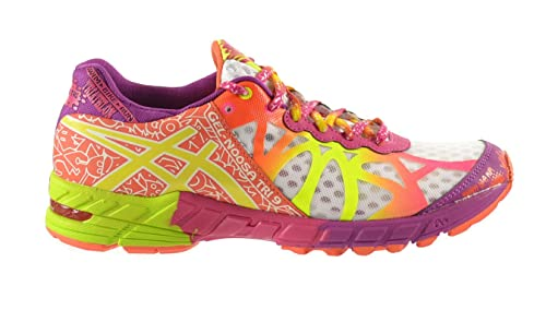 reputable site bd15a ea659 ASICS Gel-Noosa Tri 9 Women's Shoes White/Flash Yellow/Plum ...