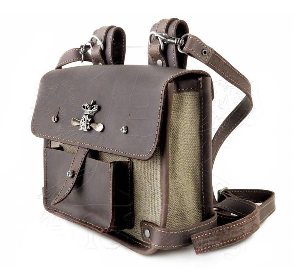 Steampunk Brown Canvas and Leather Wing-Commander's Attache Pouch by Alchemy Gothic by Alchemy Gothic (Image #5)