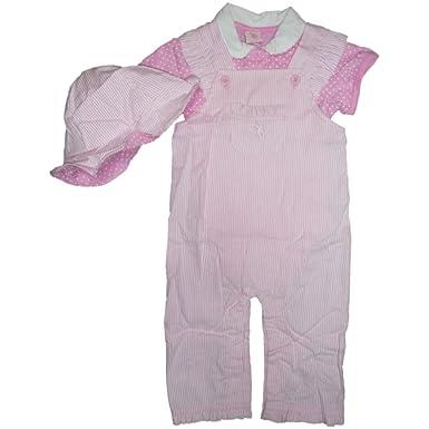 US Polo Assn - Vestido - trapecio - para bebé niña Rosa y blanco 6 ...