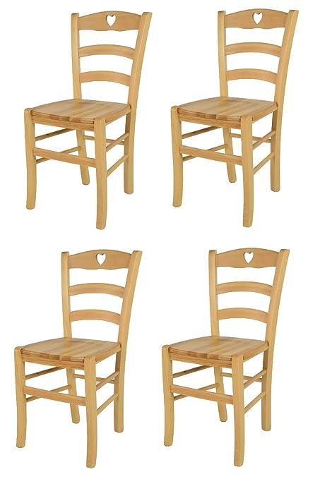 Tommychairs - Set 4 sedie Classiche Cuore per Cucina e Sala ...