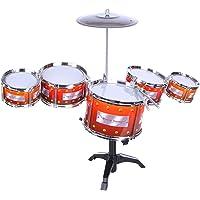 HALO NATION Jazz Drum Set Musical Instrument for Kids - Pack of 9 Pcs