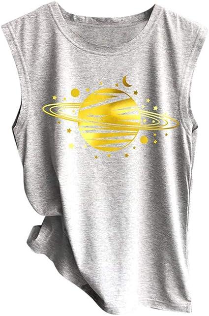 Yivise Camisa sin Mangas para Mujer Blusas sin Mangas Sueltas Blusa Suave y cómoda: Amazon.es: Ropa y accesorios