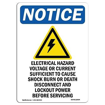 Señal de advertencia de Osha - peligro eléctrico. Elige de ...