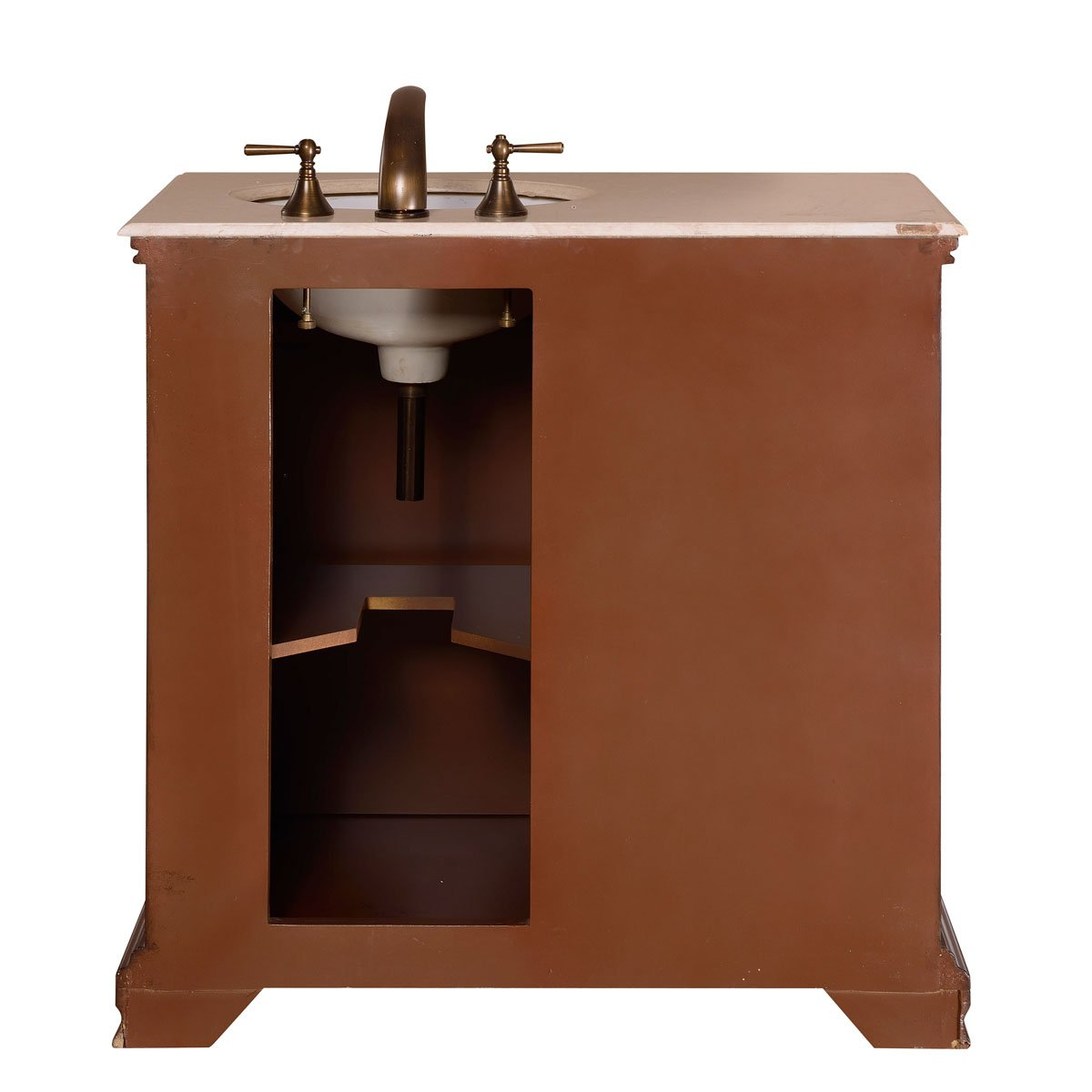 Silkroad Exclusive Single Right Sink Bathroom Vanity with Furniture Cabinet, 36-Inch by Silkroad Exclusive (Image #6)