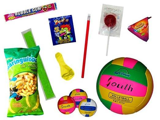 Lote de 3 Balones de Voleibol Playa con Golosinas, Polos y ...