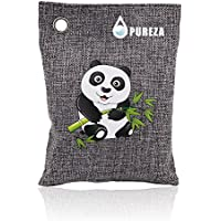 Pureza Natural Air Purifying Bag. Odor Eliminator for Cars, Closets, Bathrooms and Pet Areas. Captures and Eliminates Odors. Charcoal Color, 137G