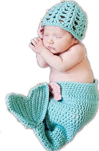 Amazon.com: Nodykka Newborn Baby Photography Mermaid