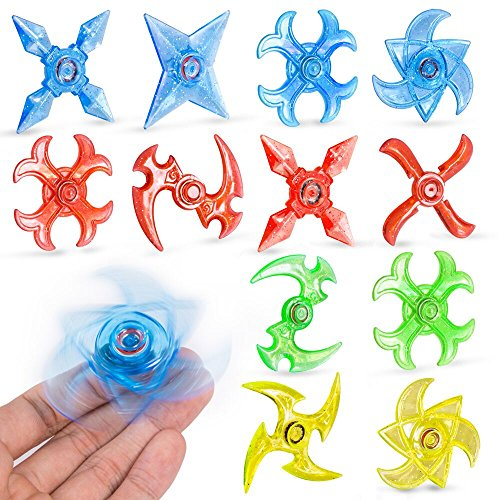 PROLOSO Mini Finger Gyro Fidget Spiral Twister Toys Party Pack (20 Pieces)]()