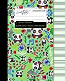 Blank Sheet Music: Music Manuscript Paper/Staff Paper/Musicians Notebook [ Book Bound (Perfect Binding) * 12 Stave * 100 pages * Large * Music Panda ] (Composition Books - Music Manuscript Paper)