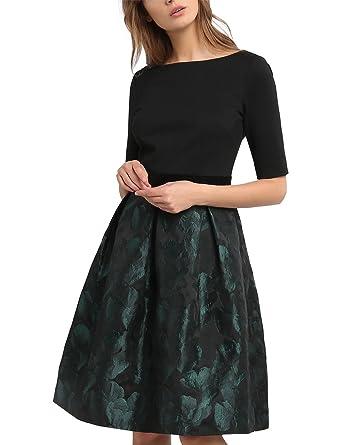 7839e5a05924 APART Fashion Damen Kleid 53039, Grün (Smaragd), 36  Amazon.de ...