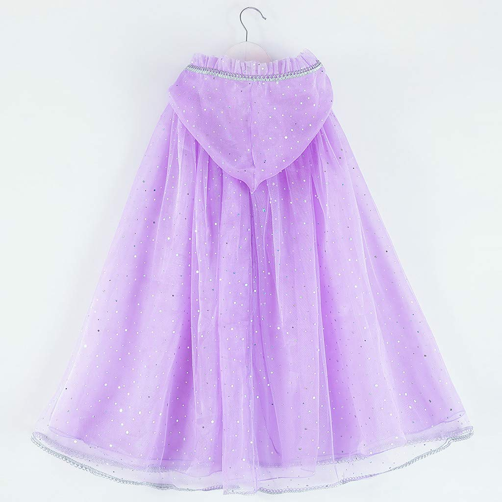 Rosennie Dress for Kids Soft Cute Baby Girl Skirt Suit Cosplay Princess Pageant Gown Cape Birthday Party Hooded Cloak Comfortable Gown Toddler Infant Newborn Clothes
