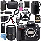 Nikon D810 DSLR Camera 1542 + Nikon AF-S NIKKOR 28-300mm ED VR Lens + 77mm 3 Piece Filter Kit + EN-EL15 Lithium Ion Battery + External Rapid Charger + Sony 128GB SDXC Card Bundle