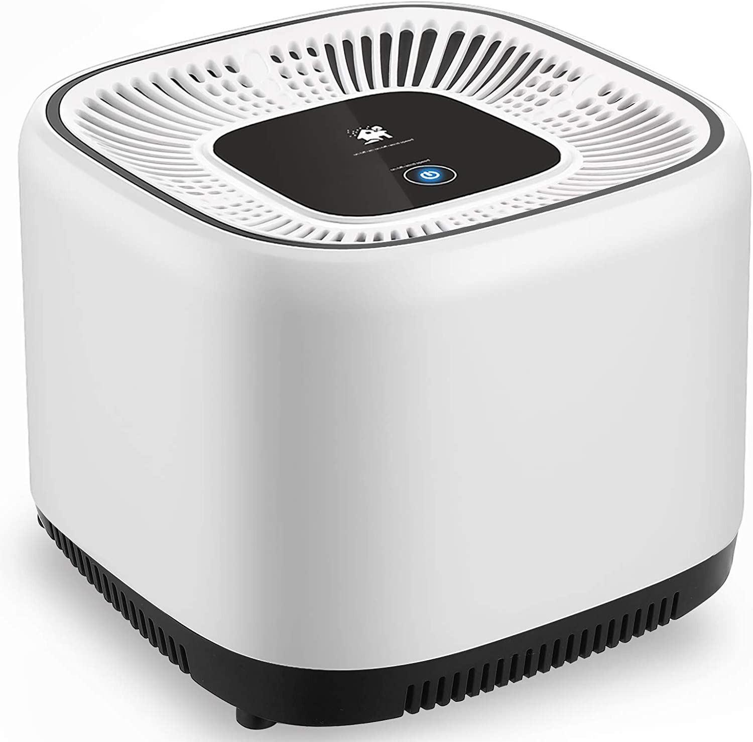 Fsdfgc Air Purifier for Home with True HEPA Filters, Low Noise Powerful Desktop Air Cleaner with 3 Stage Filtration Eliminate Smoke/Pet Dander/Pollen/Dust, Portable Air Purifiers for Bedroom, Office