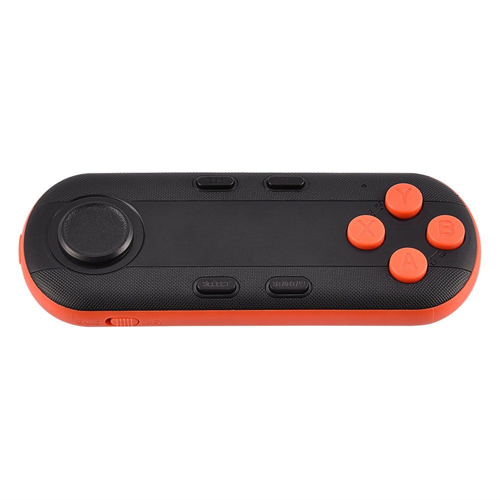 Richer-R Portable Wireless Bluetooth Game Controller, VR Gamepad Remote Control Bluetooth Selfie Mini Game Controller Suitable for iOS, Android and PC