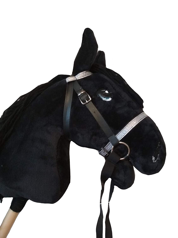 Friesian Hobby horse Black sick horse for children Ride on horse