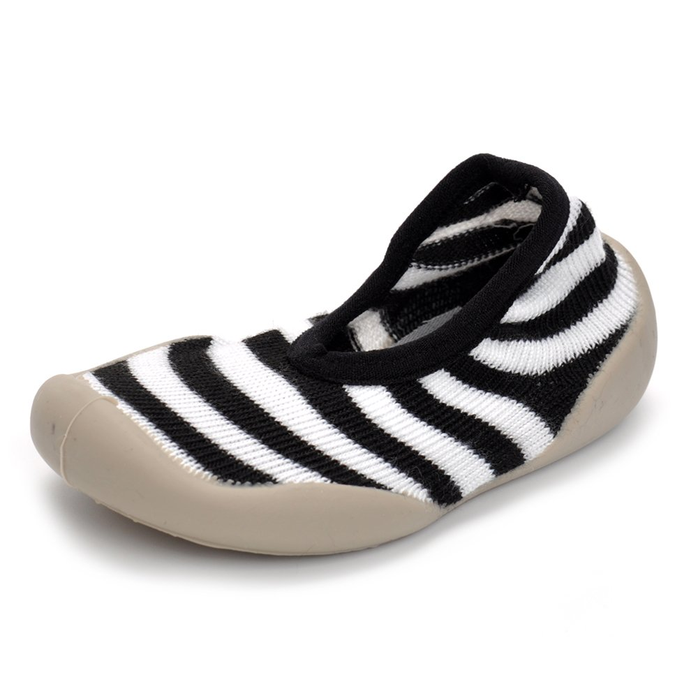 Enteer Baby Boys Rubber First Walking Sneakers Sock Shoes Stripe US 4
