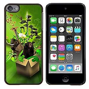 Jordan Colourful Shop - Design Box Animals Funny For Apple iPod Touch 6 6th Generation Personalizado negro cubierta de la caja de pl????stico