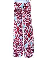 LOSRLY Women Wide Leg High Elastic Waist Printed Boho Palazzo Pants Plus Size