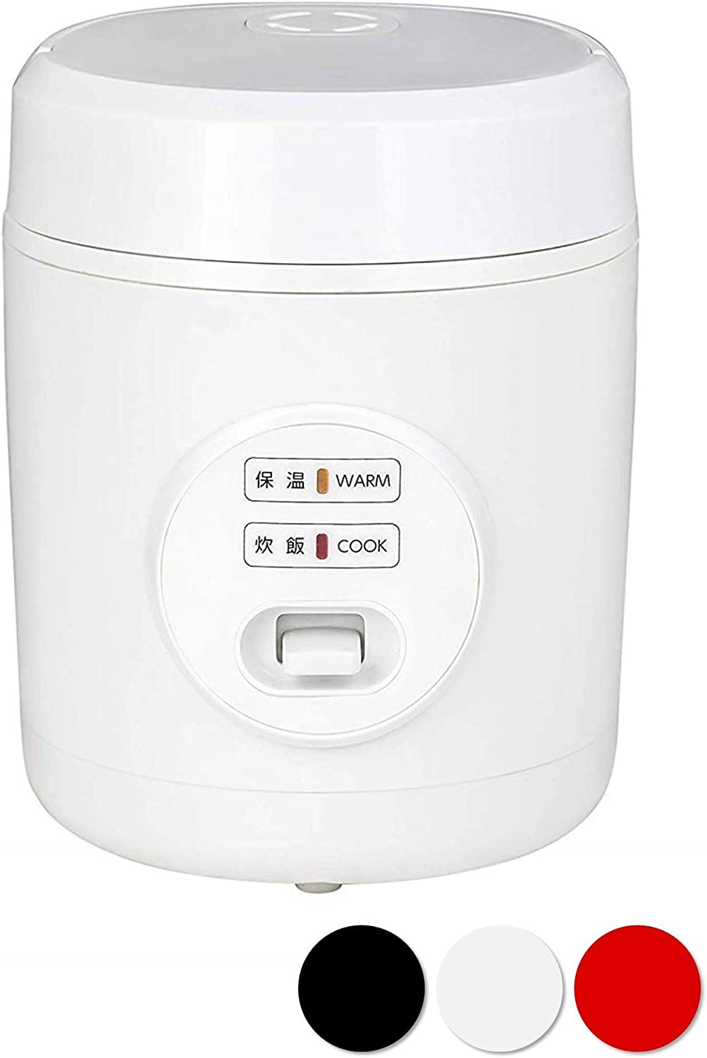 Yamazen Rice Cooker 0.5 to 1.5 Pair Small Mini Rice Cooker White YJE-M150 (W)