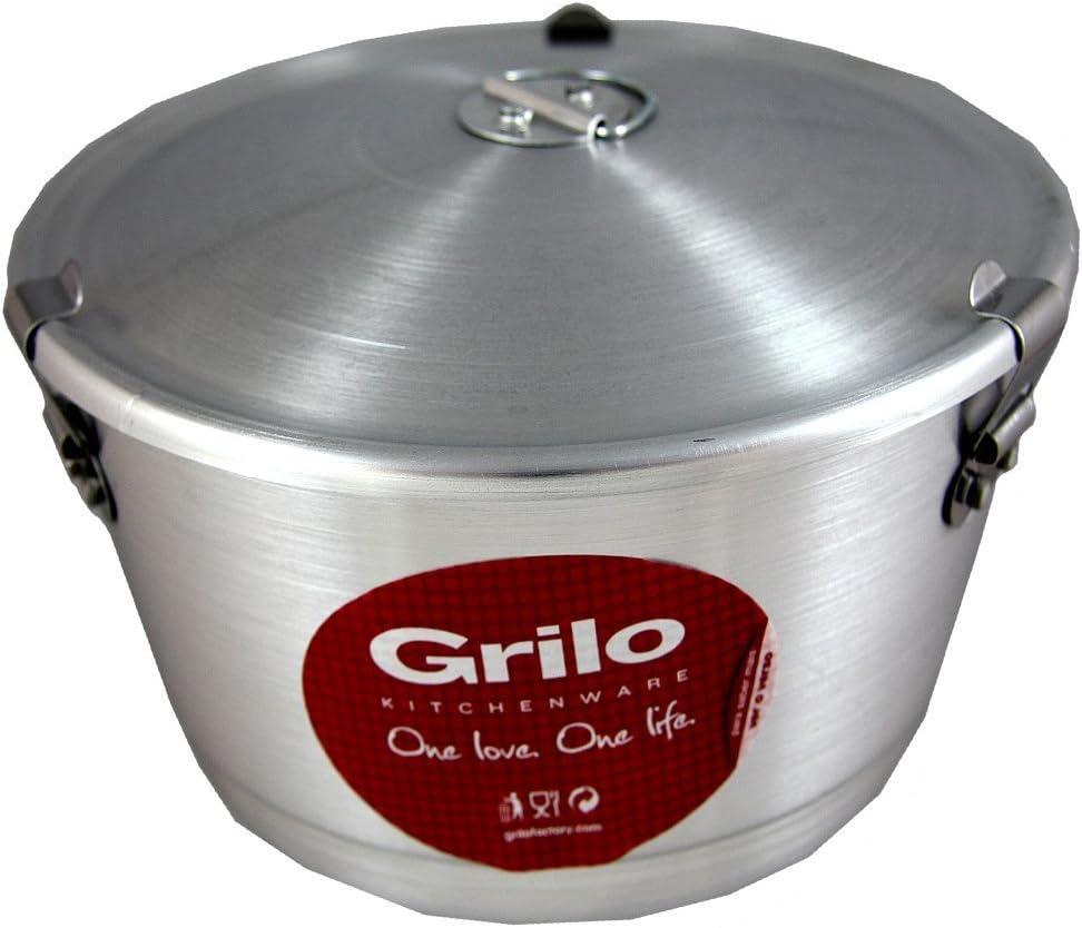Grilo menaje Flan Pudding molde con tapa Banho Maria, fabricado en Portugal: Amazon.es: Hogar