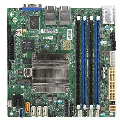 Supermicro Motherboard MBD-A2SDI-4C-HLN4F-B Intel Atom Mini-ITX PCI Express SATA USB Brown Box