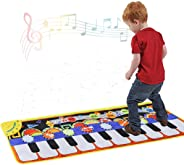 Cyiecw Piano Music Mat, Keyboard Play Mat Music Dance Mat with 19 Keys Piano Mat, 8 Selectable Musical Instruments Build-in