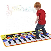 Cyiecw Piano Music Mat, Keyboard Play Mat Music Dance Mat with 19 Keys Piano Mat...